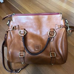 Large brown leather Dooney and Bourke satchel